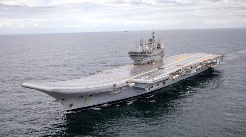 India's INS Vikrant aircraft carrier. Photo Credit: India Navy, Wikipedia Commons