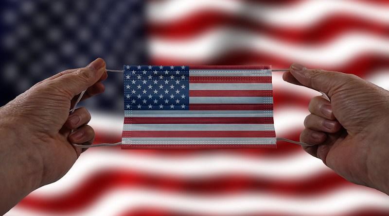 Mask Face Mask Flag Hands Usa America Virus United States COVID-19 Coronavirus