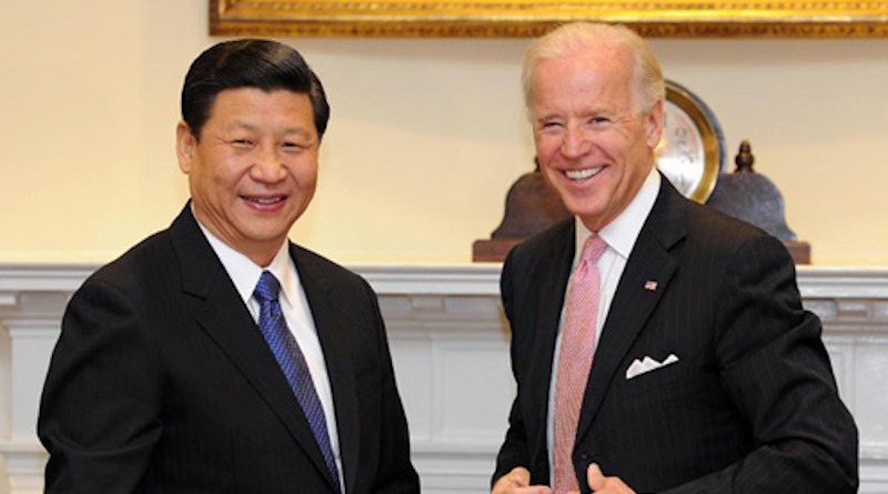File photo of China's Vice President Xi Jinping with US Vice President Joe Biden in 2015. Photo Credit: Chinese Embassy in US