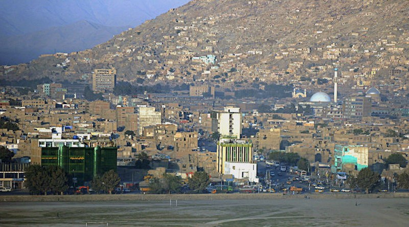 Kabul, Afghanistan skyline, displaying both historical and contemporary buildings. CC BY-SA 3.0