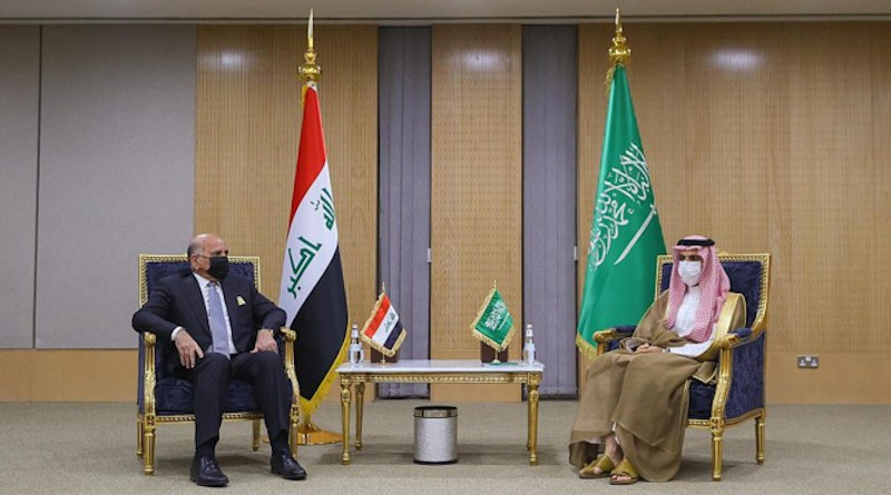 Saudi Arabia's Prince Faisal bin Farhan (right) and Iraq's Fuad Hussein. Photo Credit: SPA
