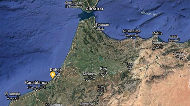 Contrabandiers Cave, Morocco, location along the coastline CREDIT: Google maps