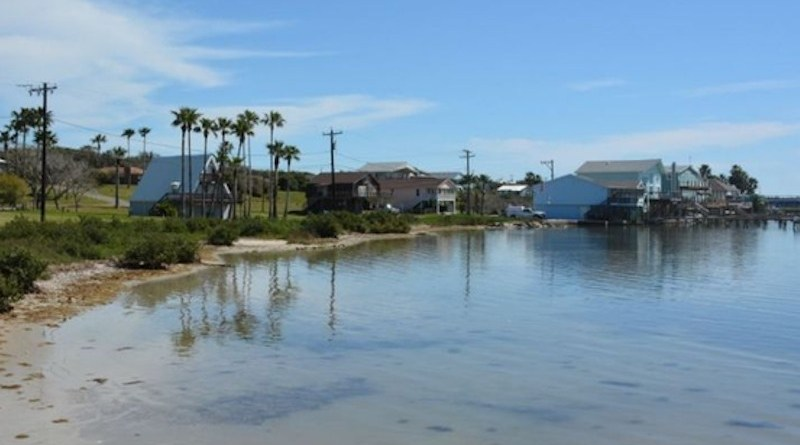 The Ingleside on the Bay shoreline is low-lying and unprotected in some spots, making it susceptible to flooding. CREDIT: UT Arlington
