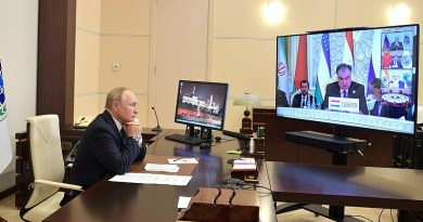 Russia's President Vladimir Putin attends Shanghai Cooperation Organization (SCO) videoconference. Photo Credit: Kremlin.ru