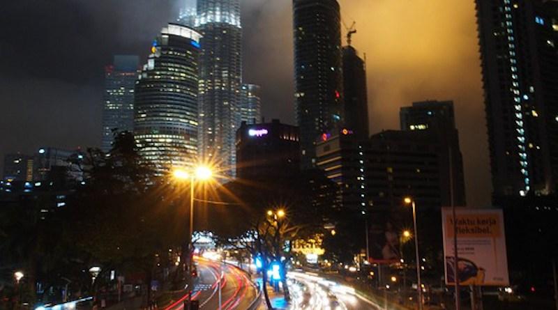 Traffic Malaysia Kuala Lumpur Klcc Night Cityscape