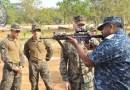 Navy Commander at Sampoor with US Marines. Credit: Sri Lanka Navy