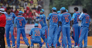 Members of India's national cricket team. Photo Credit: lensbug.chandru, Wikipedia Commons