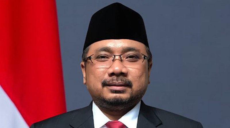 Indonesia's Yaqut Cholil Qoumas. Photo Credit: Ministry of Religion of the Republic of Indonesia, Wikipedia Commons