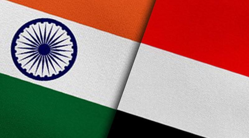 Flags of India and Yemen