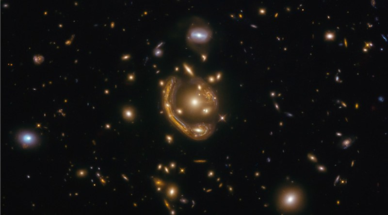 """In this particular snapshot, a science discovery followed the release of a Hubble observation of a striking example of a deep-space optical phenomenon dubbed an """"Einstein ring."""" The photo was released in December 2020 as an example of one of the largest, nearly complete Einstein rings ever seen. CREDIT: Saurabh Jha (Rutgers, The State University of New Jersey)"""