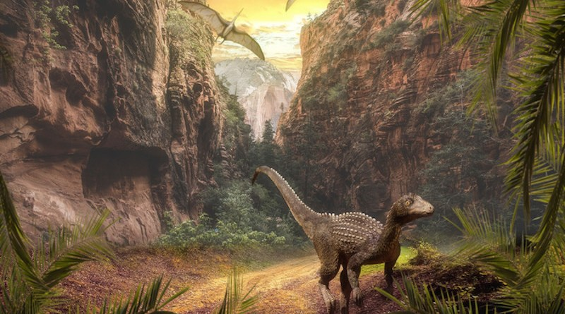Ecological changes following intense volcanic activity during the Carnian Pluvial Episode 230 million years ago paved the way for dinosaurs to become the dominant species. CREDIT: Pixabay