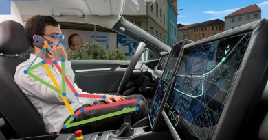 In addition to the body poses of all passengers, the occupant monitoring system developed by Fraunhofer IOSB also detects activities and associated objects. © M. Zentsch/Fraunhofer IOSB