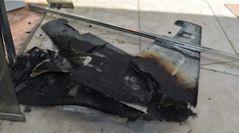 Damage cause by the drone attacks on Abha airport on Tuesday Aug. 31. (SPA)