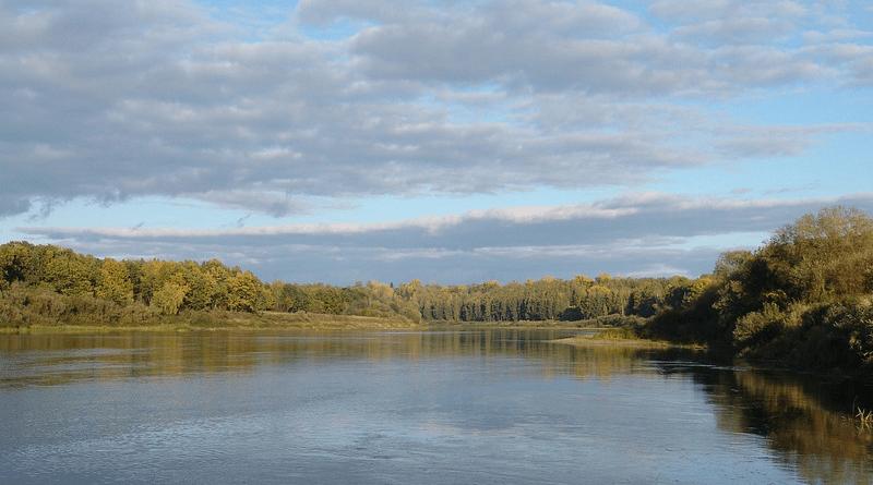 River Vyatka Autumn Russia Landscape
