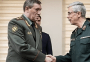 Chief of the General Staff of the Armed Forces of Russia Valery Gerasimov (left) with Chief of Staff of the Iranian Armed Forces Major General Mohammad Hossein Baqeri. Photo Credit: Tasnim News Agency