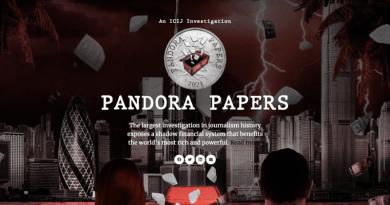 Pandora Papers. Credit: Screenshot of ICIJ.org website
