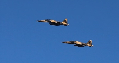 Iranian Air Force fighter jets. Photo Credit: Tasnim News Agency
