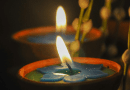 india Oil Lamp Burning Candles In Buddhist Temple Burn