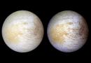 This photograph of the Jovian moon Europa was taken in June 1997 at a range of 776,700 miles by NASA's Galileo spacecraft. Credits: NASA, NASA-JPL, University of Arizona