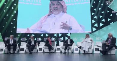 Speakers at the Future Investment Initiative Forum. Photo Credit: Arab News