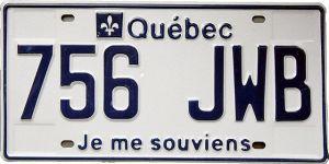 Plaque minéralogique du Quebec