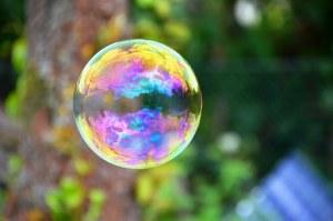 Photographie de bulle de savon