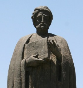 Photographie de la statue d'Ibn Khaldoun (Tunis)