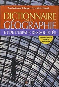 couverture du livre Dictionnaire de la géographie et de l'espace...