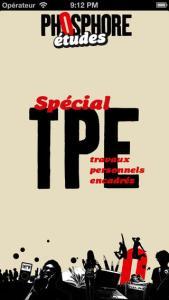 couverture du journal Phosphore spécial TPE