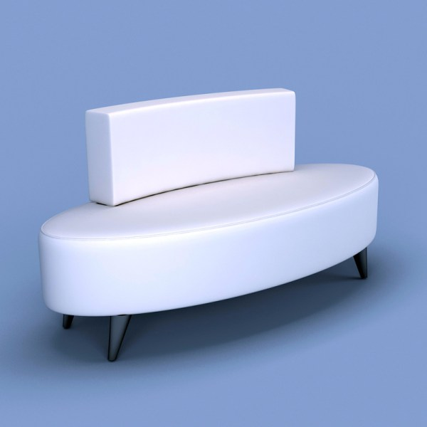 Oval Bench White