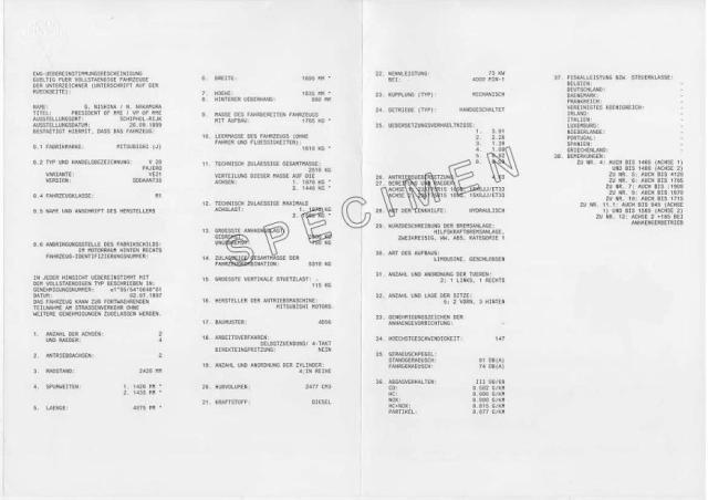 Qu'est-ce qu'un certificat de conformité Seat | Euro