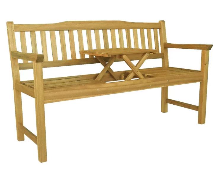 banc de jardin avec table integree pour exterieur 300kg max
