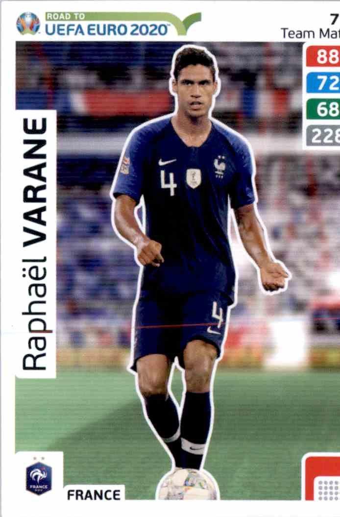 Varane on the uefa nations league road to the nations league finals: Raphael Varane France Euro 2020 - Fotbalová kartička ...
