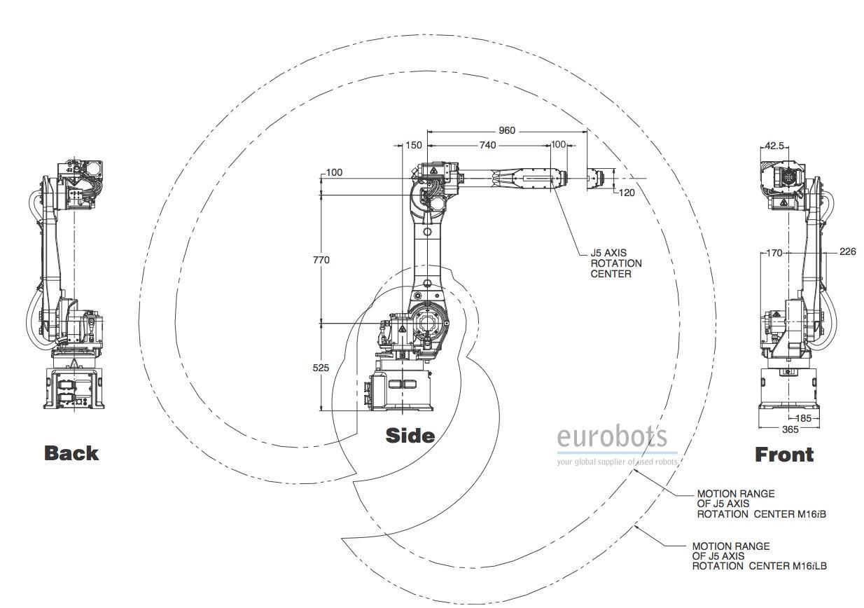 Fanuc Roboter M16ib 10l