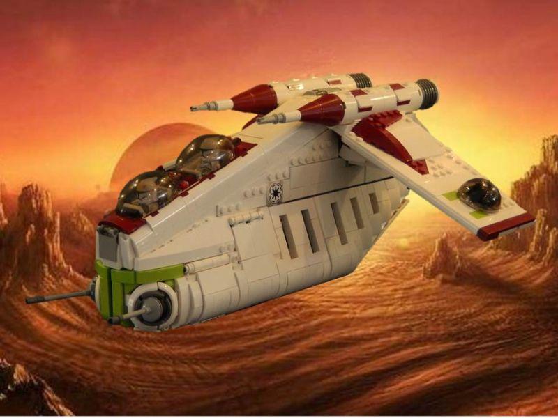 Republic Gunship, by JBB_777, on Eurobricks