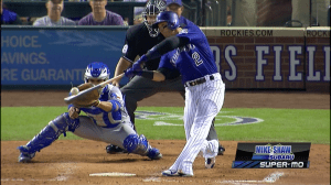 Tulo First HR vs Rangers in the game