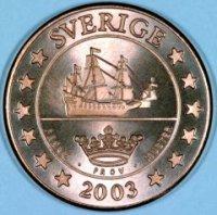 Swedish 5 Cent Pattern Coin