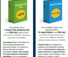Top Analysis Full e Report Estero in promozione