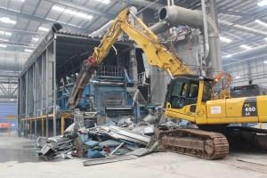Decommissioning a printing press