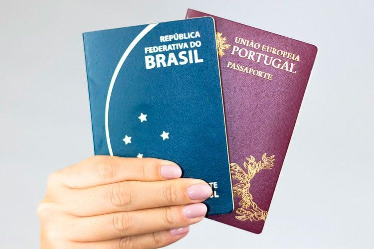 passaporte brasileiro e português