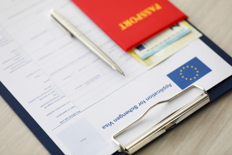 Formulário visto Schengen