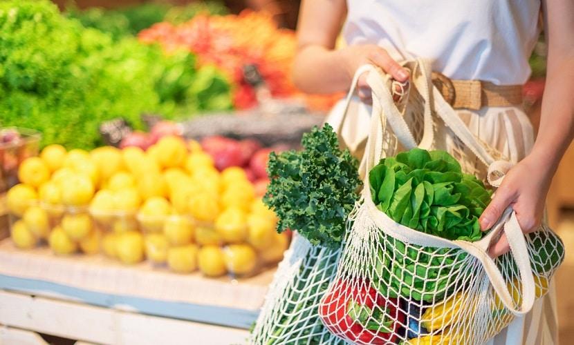 Sacola de supermercado reutilizável