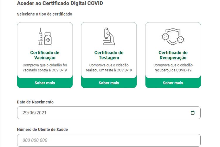 Passaporte Covid SNS