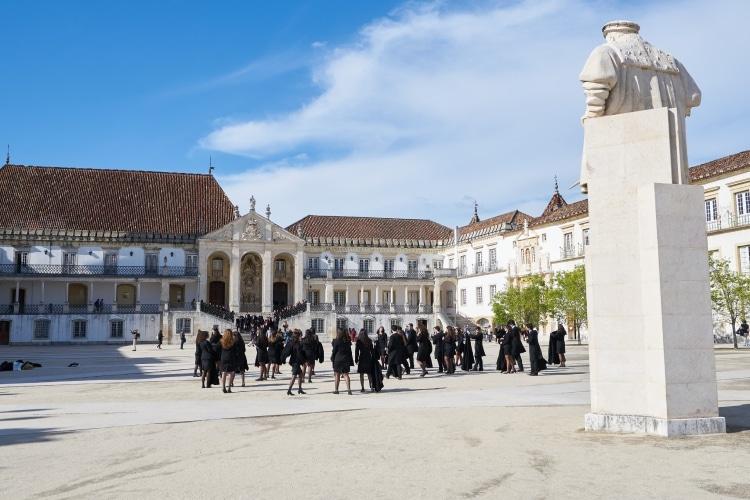 Estudantes na Universidade de Coimbra