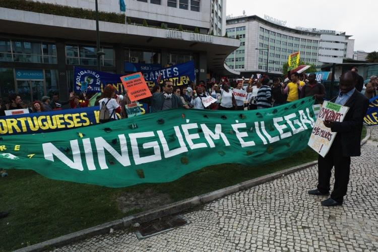Imigrantes protestam contra o SEF em Lisboa