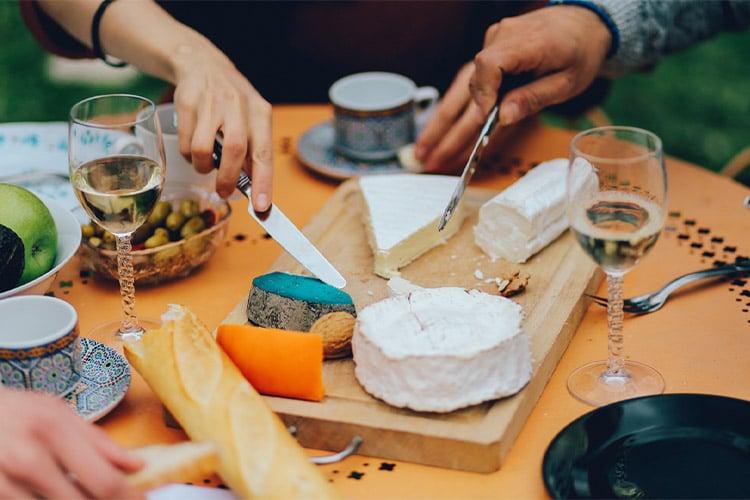 o francês e a comida
