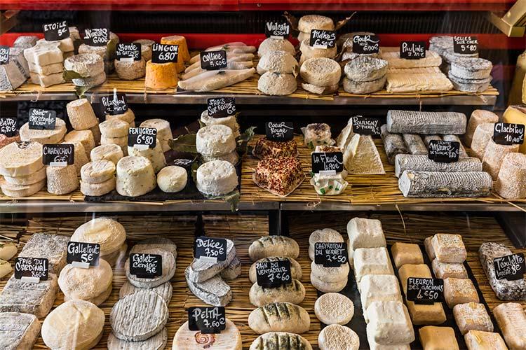 variedade de queijos na mesa francesa
