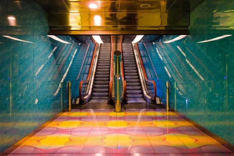 Estação de metrô na Itália