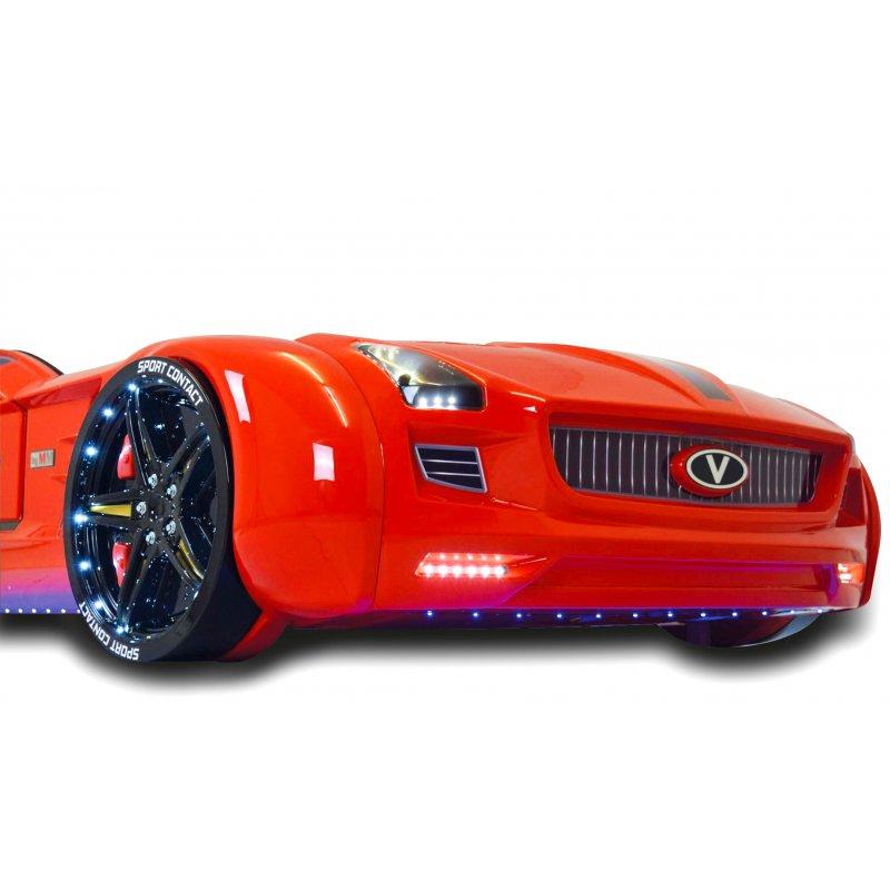 Lit Voiture Pour Enfant Roadster Eclairage LED Avec