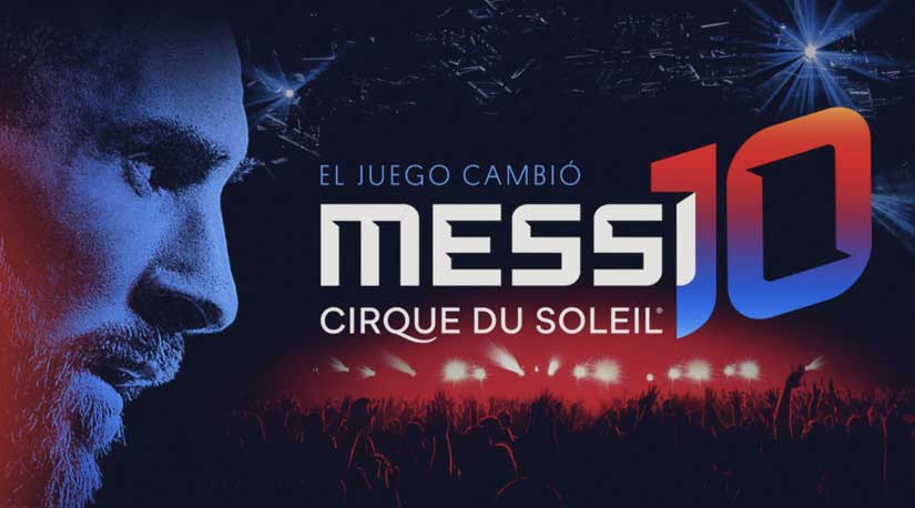 La magia de Messi se funde con el Cirque du Soleil